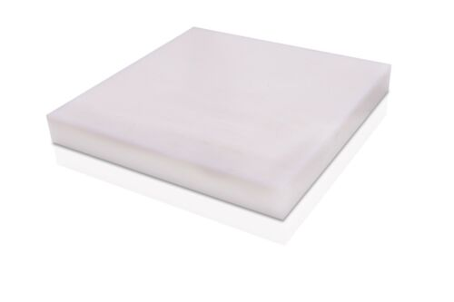 "Nylon 6//6 Polyamide Plastic Sheet .500/"" White Color 1//2/"" x 12/"" x 12/"""