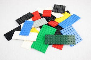 Lego® Platten 25 Stück Sammlung Konvolut Bauplatten bunt gemischt City gereinigt