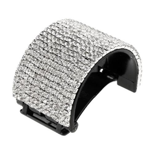 Bling Rhinestone Hair Claw Clip Ponytail Holder Teethed Cuff Wrap