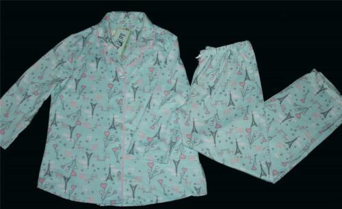 Bedhead BH Aqua Eiffel Tower Poodles Heart Balloons L//S Pajama Set Wms NWT $58