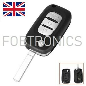 NEW-FOR-RENAULT-CLIO-KANGOO-MODUS-MEGANE-3-BUTTON-FLIP-KEY-FOB-CASE-A80
