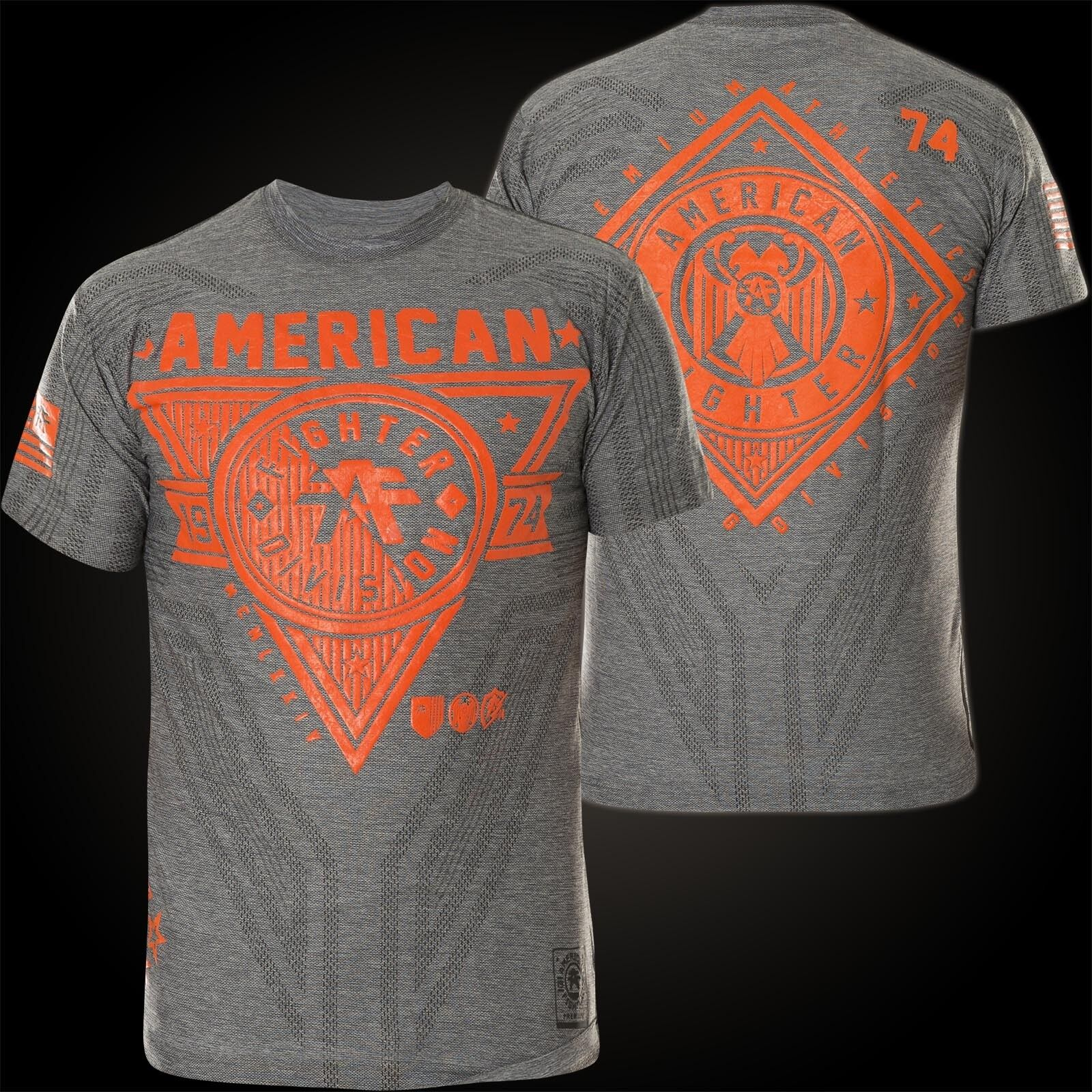 American Fighter Affliction T-SHIRT SIENA Heights Grigio T-shirts Uomo
