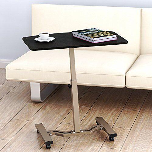 Height Adjustable Mobile Laptop Stand Desk Rolling Cart 26\/'\/' Wider Desktop New