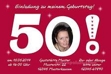 30 lustige Einladungskarten Foto Einladungen runder Geburtstag 40 50 60 70 Party