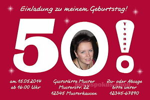 50 Lustige Einladungskarten Foto Einladungen Runder Geburtstag 40 50