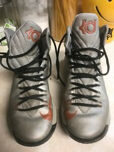 b1d13904e30 Nike Kevin Durant KD Texas 554988 002 Orange Grey (size men s 8 )