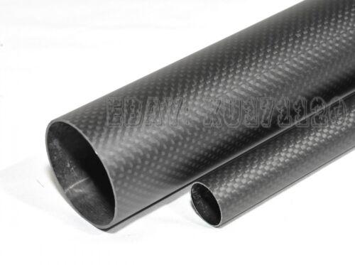 2pcs 3K Carbon Fiber Tube x 500mm 20mm 21 22mm 23 24mm 25mm 26mm 27 28mm 29 30mm