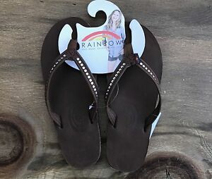 Women Rainbow Sandals Expresso Brown Premier Leather W
