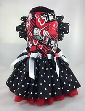 Pet Dog Dress Spring Betty Boop red black hearts dress XXS XS Small Med