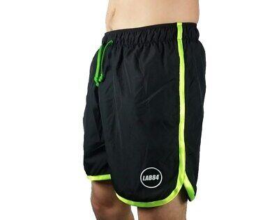 Lab84 Costume Pantaloncino Corto Short S8 Shm1004fluo Surf Nero Verde