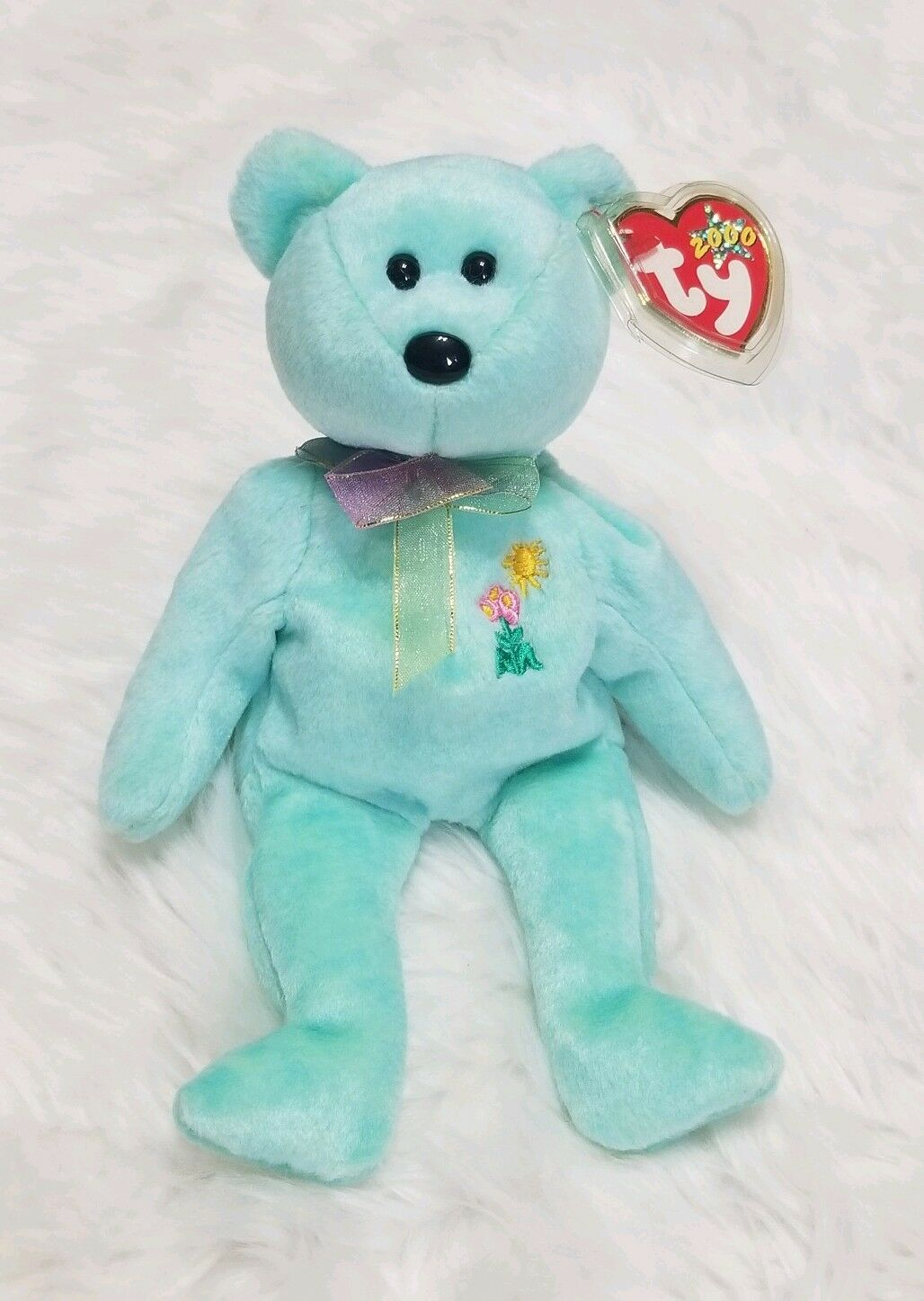 Ty Ty Ty Beanie Baby Ariel the Bear 2000 Pediatric AIDS Foundation Charity with Tags 37df2a