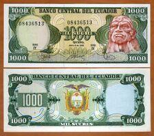 Ecuador, 1000 Sucres, 6-8-1988, P-125 (125b) Obsolete Currency, UNC > Ruminahui