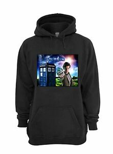 L@@K! Matt Smith Hoodie - Black - Size 2XL - The Doctor, Dr Who, 11, Tardis