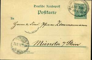 404185) Dr Germanie Bahnpost Blg Saarbrücken-bingerbrück 1900, Ganzsache-ngerbrück 1900, Ganzsachefr-fr Afficher Le Titre D'origine Ture 100% Garantie