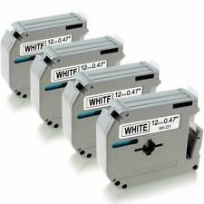 4pk M K231 M231 Fit Brother P Touch M Tape 12mm White Label Maker Pt 70 Pt 80 90