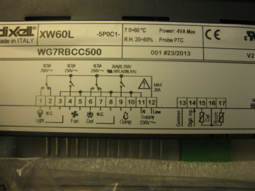 NEW  DIXELL XW60L-5POC1   controller 230V REFRIGERATION CONTROLLER