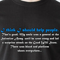 Good. My Uncle Was A General At The Salvation Army God Naked Retro Funny T-shirt