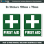 First-Aid-Decals-100-x-70-OH-amp-S-WHS-boat-car-safety-medical-sticker-x2-F026