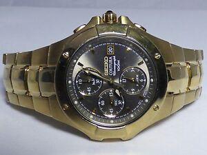 seiko 7t62 0fa0 coutura chronograph date alarm stainless steel watch rh ebay com seiko coutura ssg009 manual seiko coutura kinetic perpetual manual