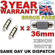 2 x 239 36mm INTERNI LAMPADINA 3 SMD LED festone CANBUS nessun errore 239 272 c5w Bianco