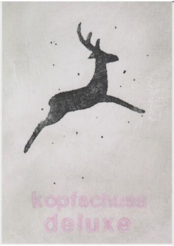 Kunst Gruß Postkarte lustig // Humor Petersen kopfschuss deluxe Jan M