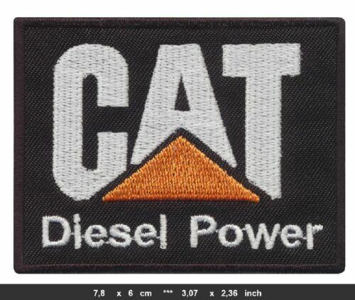 CAT CATERPILLAR Aufnäher Aufbügler Patch Raupen Bagger Schuhe Arbeitskleidung v2