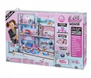 LOL Surprise Doll House With 85+ Surprises Wooden Multi Story Colorful Girls-NEW 696392544996