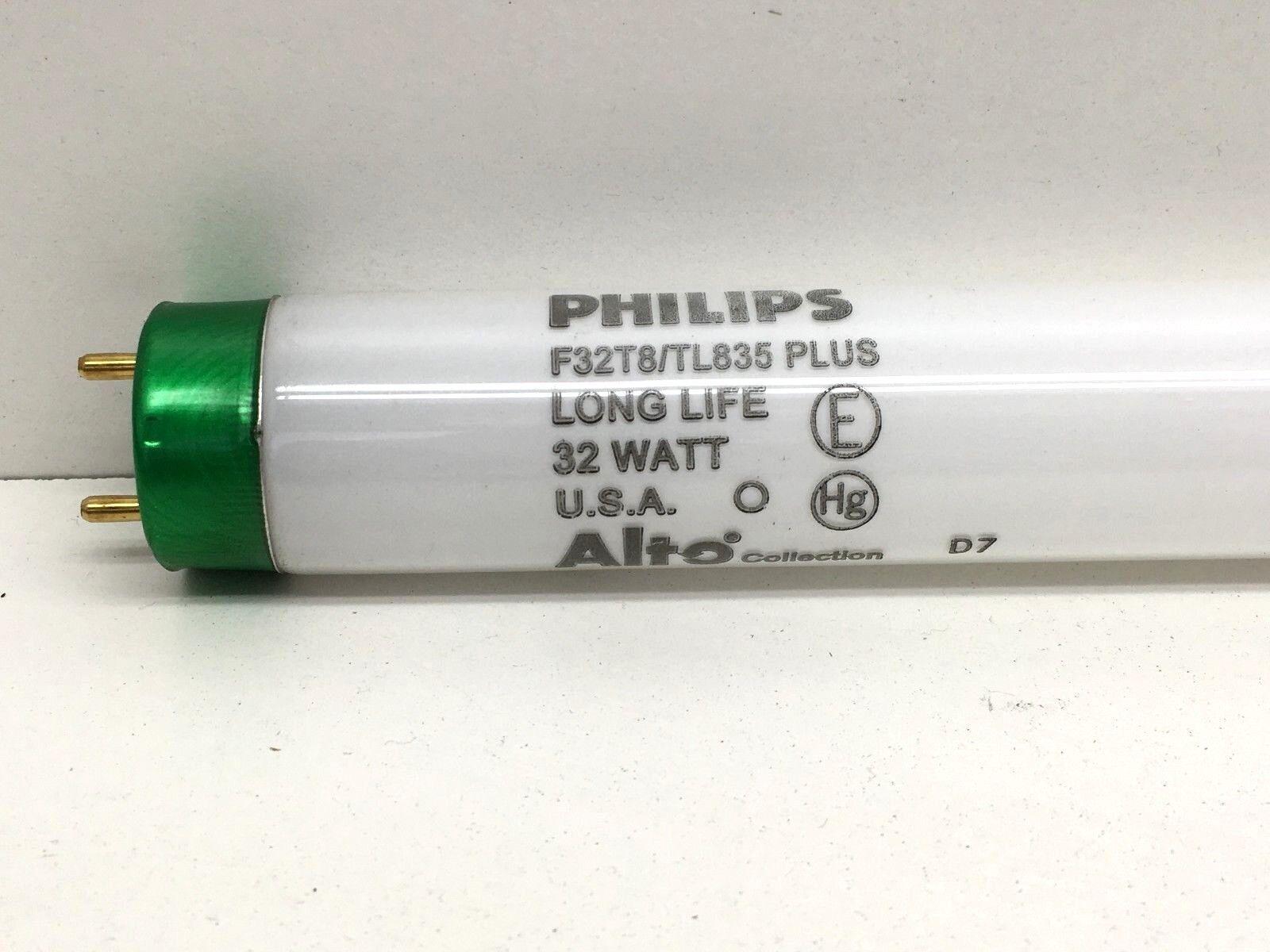 Lote de (13) Philips F32T8 TL835 Plus Fluorescente 4 ft (approx. 1.22 m) Lámpara Luz Bombilla 32 W 3500K