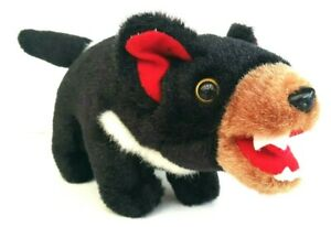 Tasmanian-Devil-Black-Brown-Stuffed-Soft-Plush-Toy-Native-Australian-Animal