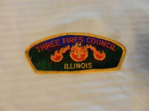 Details about  /Three Fires Council Illinois Council Shoulder Patch