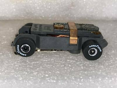 AUTO WORLD ULTRA G TJET GOODYEAR TIRES BLK//S WHEELS SLOT CAR CHASSIS FITS AURORA