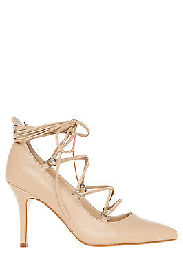 NEW Miss Shop Spader Nude Pump Beige