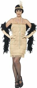 Costume Carnevale Donna Charleston Gold Flapper Gonna Corta PS 25332