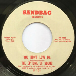 EPITOME-OF-SOUND-034-YOU-DON-039-T-LOVE-ME-034-7-034-45rpm-USED-VG-SANDBAG-1968