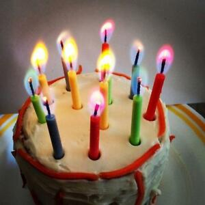 Image Is Loading 12pcs Colored Flame Magic Candles Birthday Cake Angel