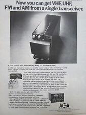 3/1977 PUB AGA AEROTRONICS LIDINGO SWEDEN VHF UHF FM AM TRANSCEIVER ORIGINAL AD