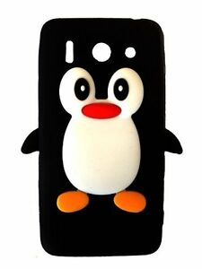 Black-Silicone-Penguin-Phone-Case-Cover-for-Huawei-Ascend-G510
