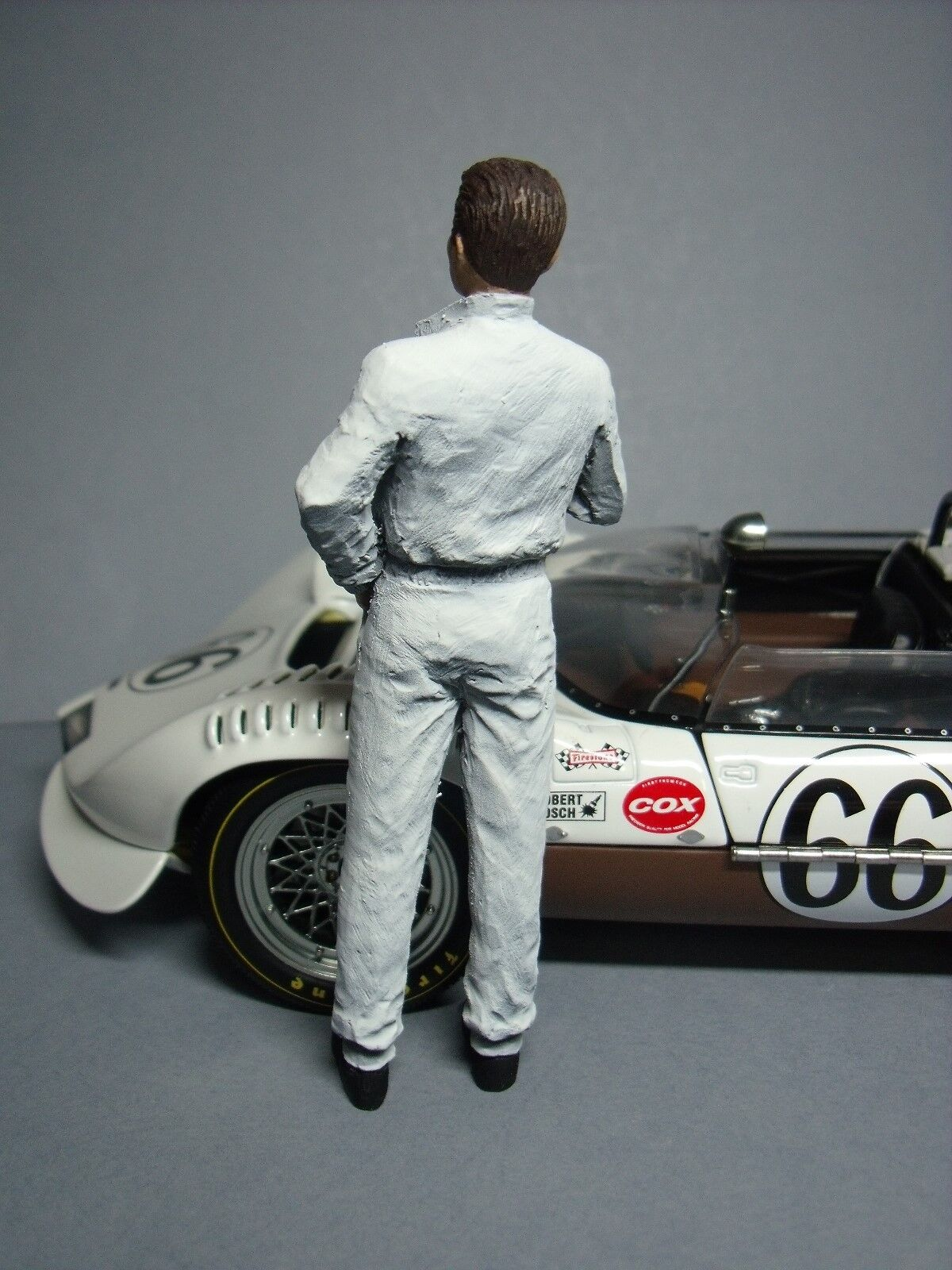 FIGURINE  1 18  JIM JIM JIM  HALL  A  PEINDRE  POUR  CHAPARRAL  VROOM  SCALE  FIGURES 88fb83