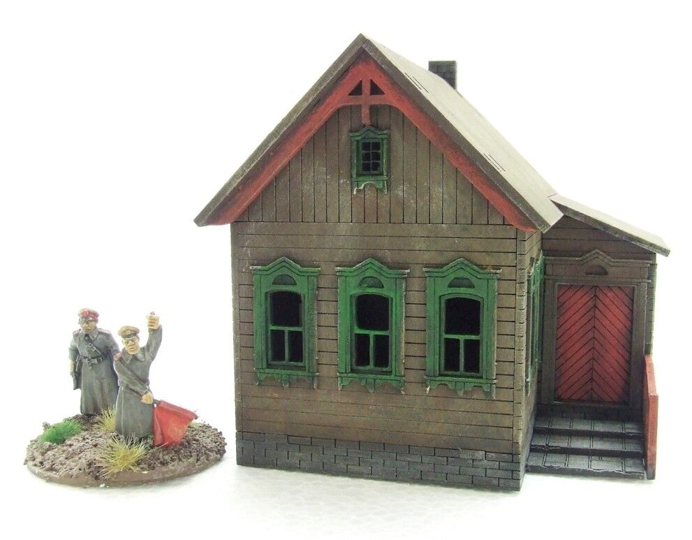 'RUSSIAN HOUSE' (2) - 28mm  - ASSEMBLED MDF & PAINTED TO COLLECTOR'S STANDARD