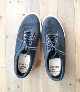 96aa68a2b0e12 Image is loading Generic-Surplus-Plimsoll-Canvas-Mesh-Sneaker-Mens-Size-