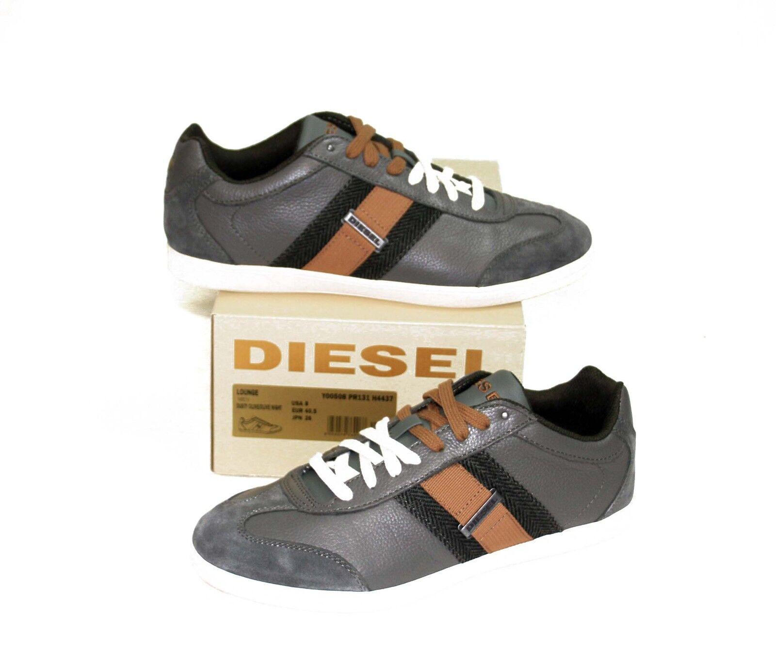 Scarpe casual da uomo  DIESEL Brand uomo Lounge Olive Orange Leather Casual Sport Shoes Sneakers in Box