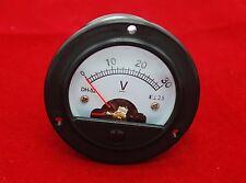 Dc 30v Round Analog Voltmeter Analogue Voltage Panel Meter Dia 664mm Dh52