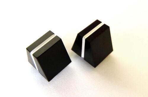 Slider Pot Boutons-Paire de-noir avec ligne blanche-remplacement Caps
