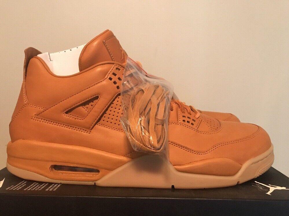 Men's Air Jordan 4 IV Retro Premium Wheat Ginger Gum Yellow 819139-205 Size 18