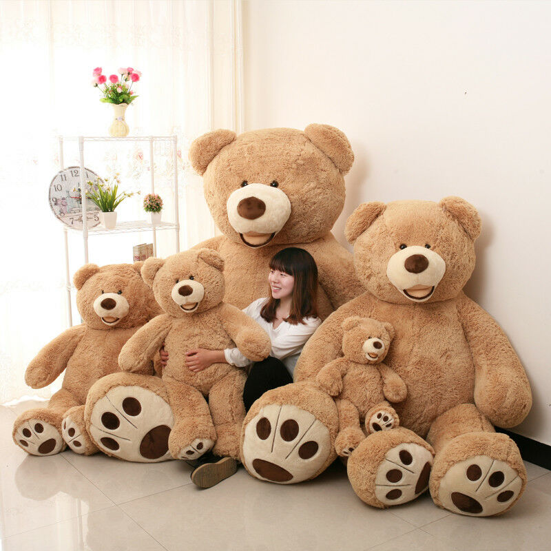 Large Teddy Bear Giant Big Soft Plush Toys Kids Gift 130-260CM Cover Good Gifts