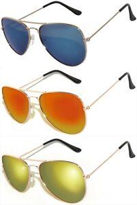 49421e600 Image is loading OWL-Eyewear-Aviator-Sunglasses-Colored-Mirror-Lens-Gold-