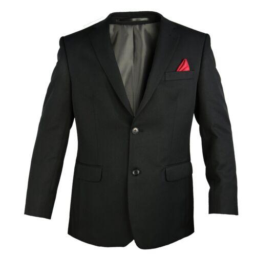 Carabou para Hombre Regular Fit Negro fialle Blazer 2 Botones Pecho 38-48 formal