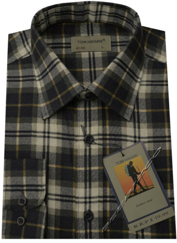 XXL By Tom Hagan New Mens Flannel Lumberjack Check Brushed Cotton Work Shirt M