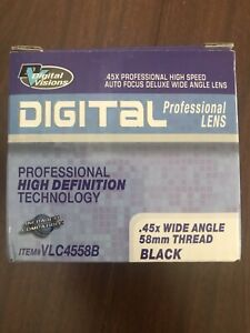 Digital-Visions-Wide-Angle-Lens-45x-Wide-Angle-Black-58mm-Thread-High-Speed