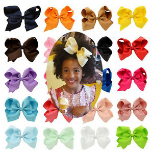 """Girl's 6"""" 20pcs/lot Hair Accessory Bow Knot Alligator Clip"""